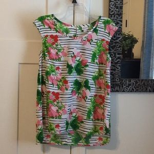 Fun Summer Print Sleeveless Top